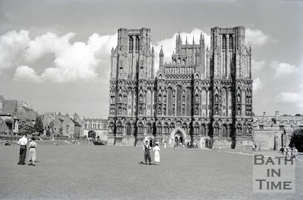 West front of Wells Cathedral, c.1950s