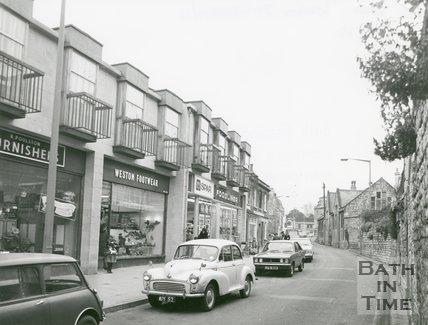 High Street, Weston, Bath, 1972