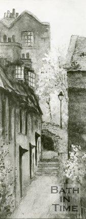 Harrison's Cottages, Widcombe, Bath, 1952