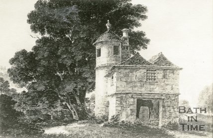 Watercolour of Widcombe Toll House, Widcombe, Bath, 1784