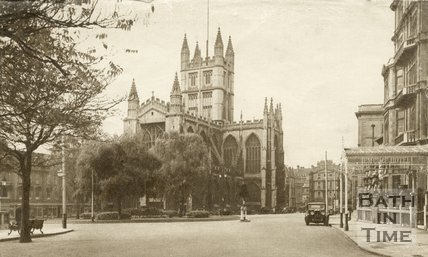 Bath Abbey viewed from Orange Grove, c.1940s