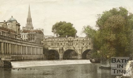Pulteney Bridge and Grand Parade, Bath, c.1940s