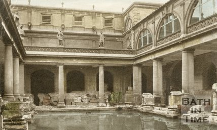 The Roman Great Bath, Bath, c.1940s