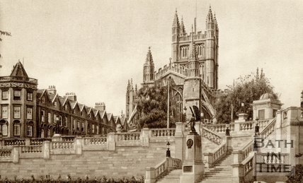Bath Abbey and Parade Gardens, Bath, c.1940s