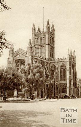 Bath Abbey and Orange Grove, Bath, c.1940s