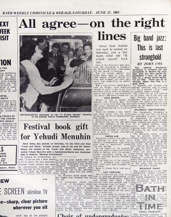 11 O'clock Special, Green Park Station, Bath Festival, June 1961