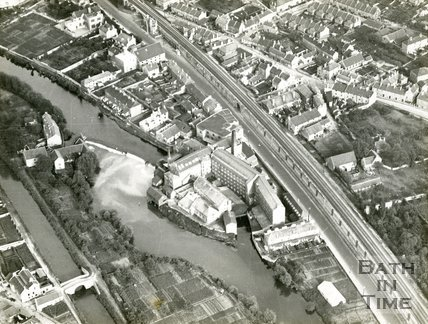 Aerial View of Carr's Mills, Twerton, Bath, 1930