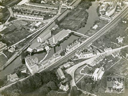Aerial view of Cook's Factory, Twerton, Bath, c.1930