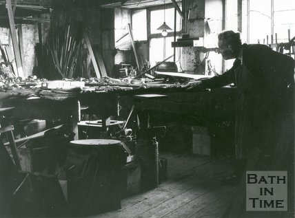 Frank Keevil and Sons Workshops, Lower Bristol Road, Bath, February 1971