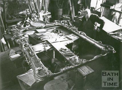 Frank Keevil and Sons Workshops, Lower Bristol Road, Bath, February 1971