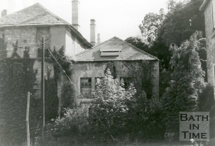The ruined De Montalt Mill, Combe Down, Bath, pre 1989