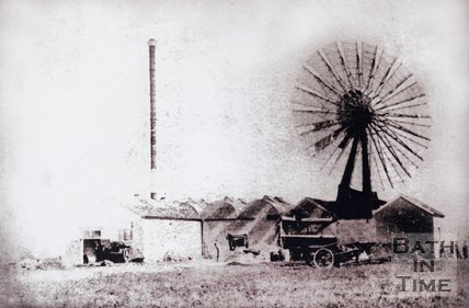 Windmill at the Fullers Earth Factory, Odd Down, Bath, 1889