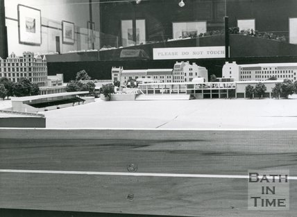 Model of Proposed Multi - Sports Centre, Recreation Ground, Bath, c.1967