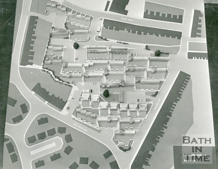 Developer's model of proposed development for Lansdown View, 1969