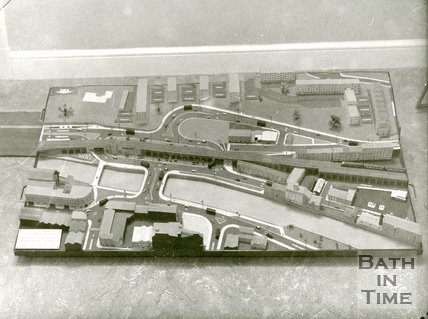 Model of the Old Bridge development, Bath, c.1964