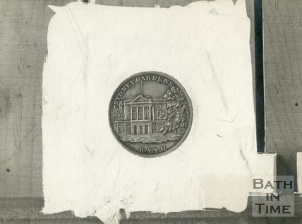 Silver Token for Sydney Gardens pleasure gardens.