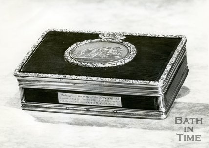 Casket presented with the Freedom of City of Bath, 24th March 1821