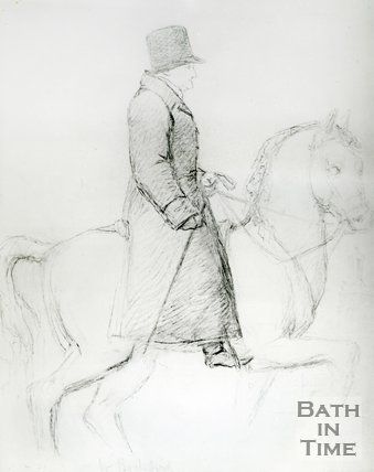 Sketch said to have been William Beckford on horseback