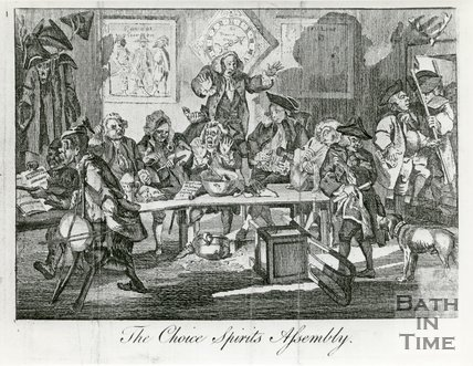 Caricature of the Choice Spirits Assembly
