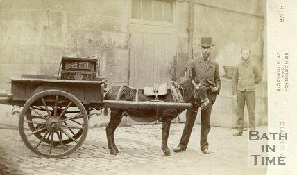 Street Musician in the Avon Street area of Bath, c.1880