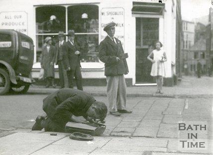 Street Musician, York Street, Bath, September 2nd 1933