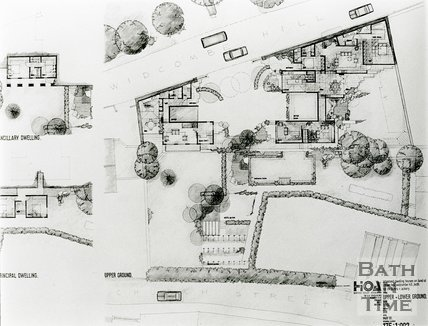 Plan of proposed house at Crowe Hall, July 1991