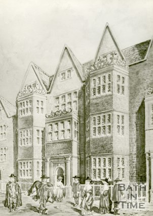 Artists impression of The White Hart Lodgings in Stall Street, Bath