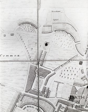 Detail from A New and Accurate Plan of the City of Bath to the present year 1793
