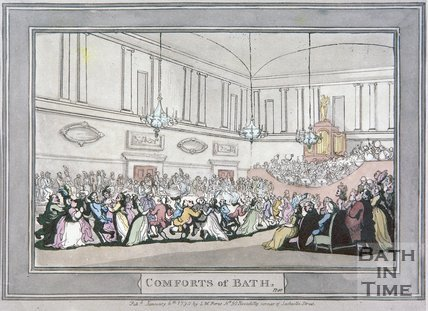 The Comforts of Bath by Thomas Rowlandson, Plate 10, 1798