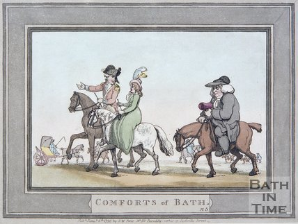 The Comforts of Bath by Thomas Rowlandson, Plate 5, 1798