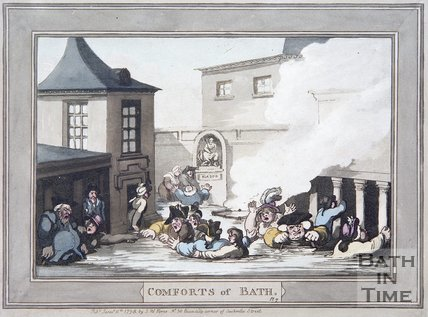 The Comforts of Bath by Thomas Rowlandson, Plate 7, 1798
