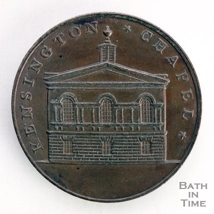 Bath token of Kensington Chapel, 1797/8