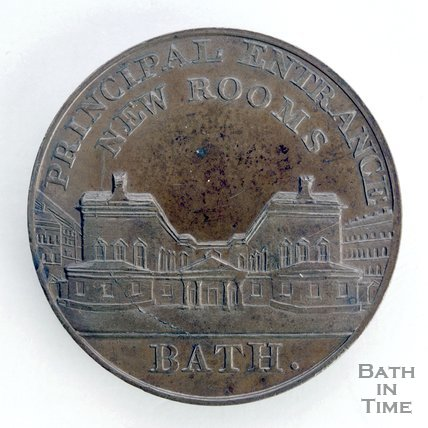 Bath token of the Principal Entrance to the New Assembly Rooms, 1797/8