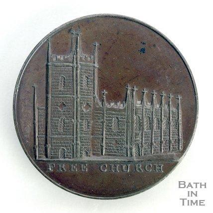 Bath token of the Free Church - Christ Church, Julian Road, 1797/8