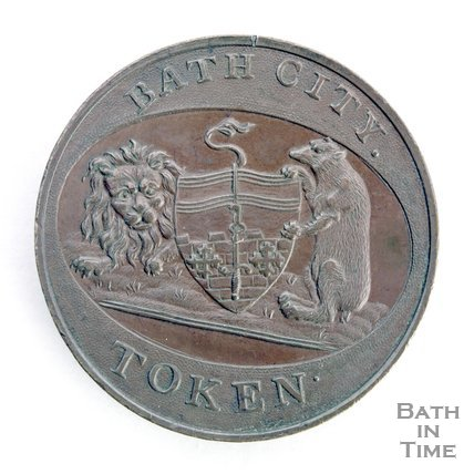 Bath token of the City Crest 1797/8