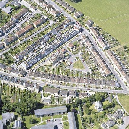 Aerial view of Larkhall, Bath, c.1982