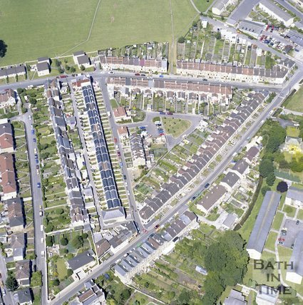 Aerial view of Larkhall, Bath, c.1982