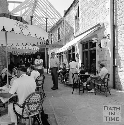 Cafe Rene, Shires Yard, Bath, c.1989