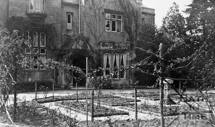 The front gardens of the Priory, Weston Lane, Bath, c.1910