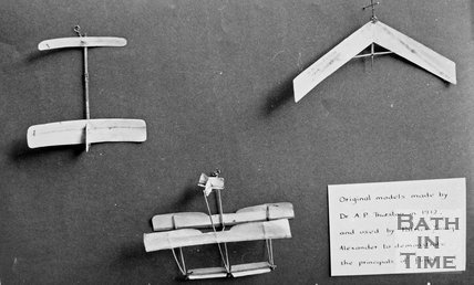 Models of early flying experiments by Patrick Alexander of Batheaston, made in 1912