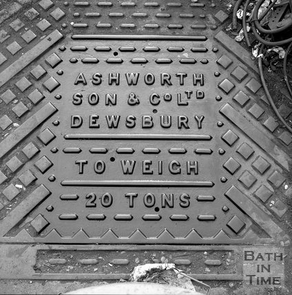 The weighing plate, possibly at Sawclose, Bath, c.1990