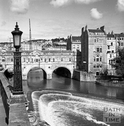 Pulteney Bridge and Weir, Bath, Sept 1988