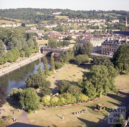 View from the roof of the Empire Hotel, Bath,  July 1996