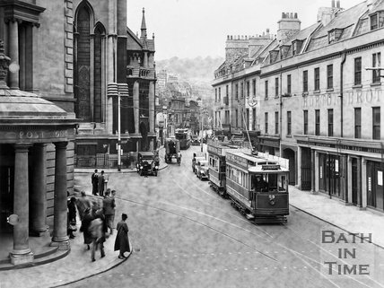 Busy comings and goings in Northgate Street, Bath, c.1935?