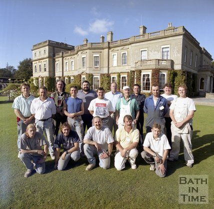 The craftsmen that helped renovate Hartham Park, Wiltshire, 1997