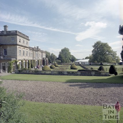 The south side of the house and gardens of Hartham Park, Wiltshire, 1997