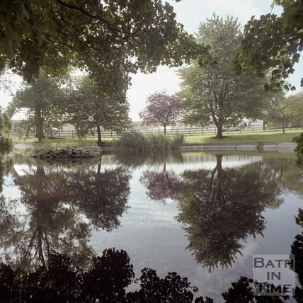 The lake at Hartham Park, Wiltshire, 1997