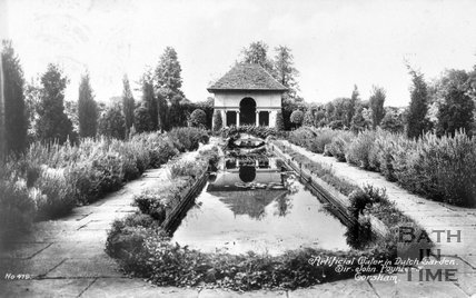 The artificial water in the Dutch garden at Hartham Park, Wiltshire, c.1910s
