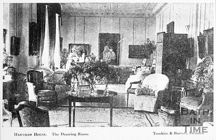 The drawing room at Hartham House, Wiltshire, c.1910s
