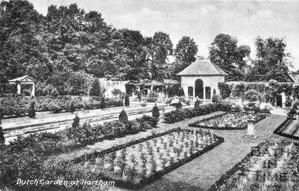 The Dutch gardens at Hartham Park, Wiltshire, c.1920s